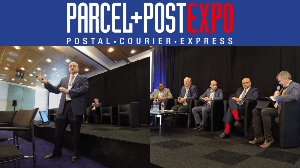 Tariq Mirza, VP Postal Consulting presents at PARCEL + POST EXPO 2019 in Amsterdam